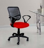 Square Mesh Red Ergonomic Chair