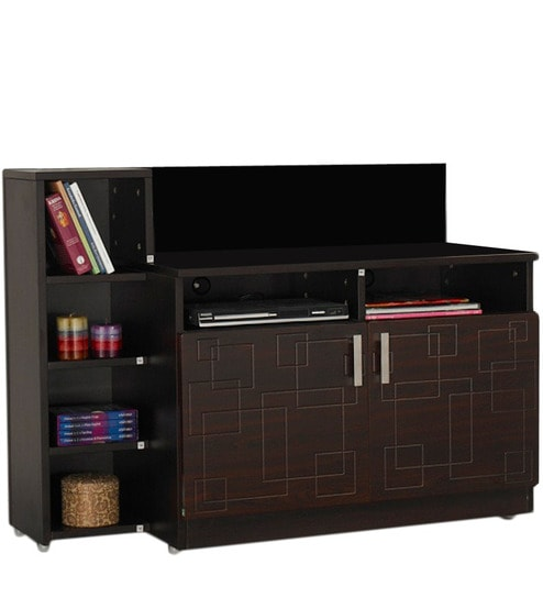 Squadro Tv Unit In Cinnamon Colour By Godrej Interio By Godrej Interio Online Modern