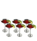 SS Silverware 1.5 Ltr Stainless Steel Martini Glass - Set of 6