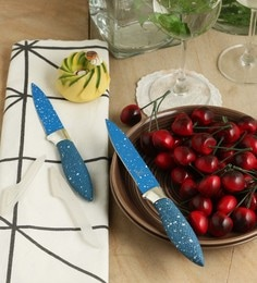SS Silverware Blue Stainless Steel Knives - Set Of 2
