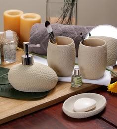 cream bathroom accessories set. SS Silverware Cream Ceramic Bathroom Accessories  Set of 4 Buy