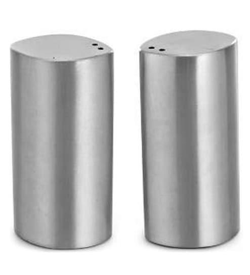 SS Silverware Petal Shaped 60 ML Salt and Pepper Shaker - Set of 2