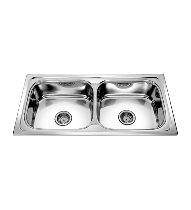 SS Silverware Stainless Steel Double Bowl Kitchen Sink - SS-D-BOUL