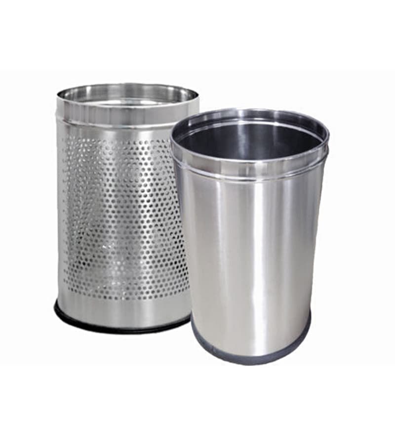 SS Silverware 5 L Dustbin - Set of 2