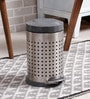 SS Silverware Perforated Grey 11 L Pedal Dustbin with Lid
