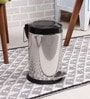 SS Silverware Plain Black 7 L Pedal Dustbin with Lid