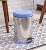 SS Silverware Plain Blue 7 L Pedal Dustbin with Lid