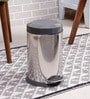 SS Silverware Plain Grey 5 L Pedal Dustbin with Lid