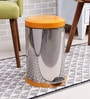 SS Silverware Plain Orange 7 L Pedal Dustbin with Lid
