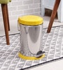 SS Silverware Plain Yellow 7 L Pedal Dustbin with Lid