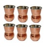 SS Silverware Stainless Steel With Copper Coating 350 ML Glass - Set Of 6