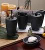 SS Silverware Black Ceramic Bathroom Accessories - Set of 4