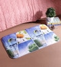 18 x 30 Inch blue and green Cotton Bath Mat by SS Silverware