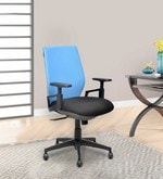 Steller Ergonomic Office Chair in Blue & Black Colour