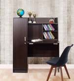Nakamura Study Table with Cabinet in Dirty Oak Finish