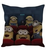 Happy Minions Yellow Silk Cushion Cover