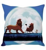 Lion King Blue Silk Cushion Cover