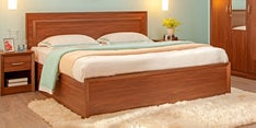 Stark Queen Size Bed with Storage in Walnut Finish