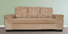 Stylus Three Seater Sofa with Cushions in Brown Colour