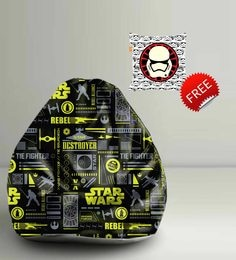 Star Wars Dark Theme Digital Printed Bean Bag XXL Filled With Beans