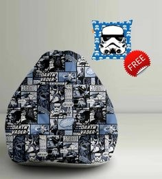 Star Wars Darth Vader Digital Printed Bean Bag XXL Filled With Beans