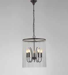 Chandeliers buy jhommer lightscrystal chandeliers online in india black and silver metal and crystal chandelier aloadofball Image collections