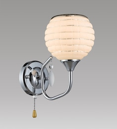 Stello White And Silver Metal And Glass Wall Light - 1598177