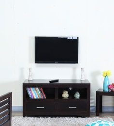 Stigen Entertainment Unit With Two Doors In Warm Chestnut Finish