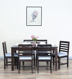Stigen Six Seater Dining Set In Warm Chestnut Finish