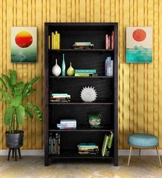 Stigen Solid Wood Book Shelf In Warm Chestnut Finish