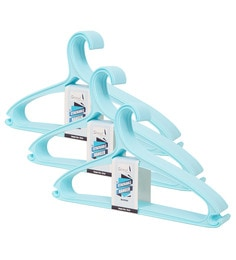 Story@Home Light Blue Plastic Hangers - Set Of 3