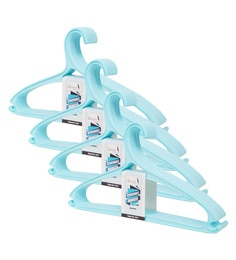 Story@Home Light Blue Plastic Hangers - Set Of 4