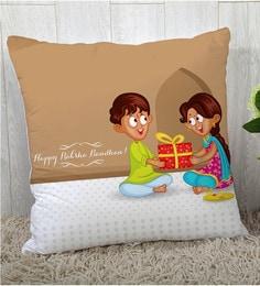 Stybuzz Polyester Multicolour 16 X 16 Inch Rakshbandhan Rakhi Gift Cushion Cover - 1619020
