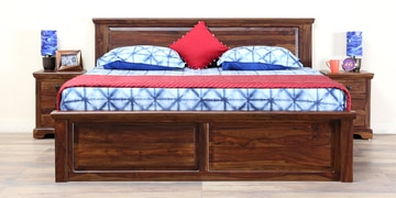 Stanfield Solidwood Queen Bed In Provincial Teak Finish