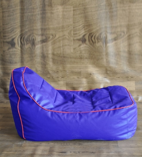 Swell Style Homez Royal Blue Lounge Chair Bean Bag Cover Without Beans Theyellowbook Wood Chair Design Ideas Theyellowbookinfo