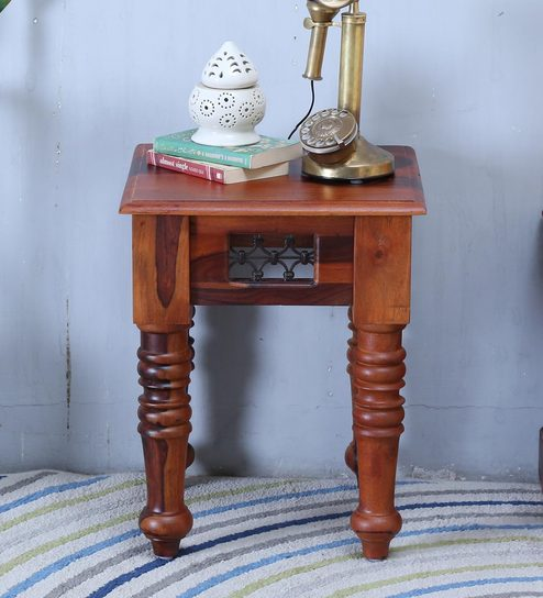 Stafford End Table In Honey Oak Finish By Amberville
