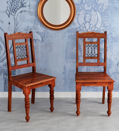 Buy Stafford Solid Wood Dining Chair Set Of 2 In Honey