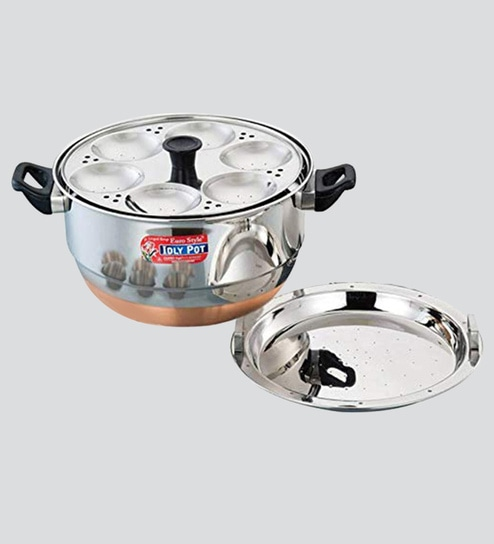 16d3a672f10 Buy Stainless Steel Idli Cooker 5 Idli Plates   1 Steam Plate Online - Idli    Appam Makers - Cookers - Kitchenware - Pepperfry Product