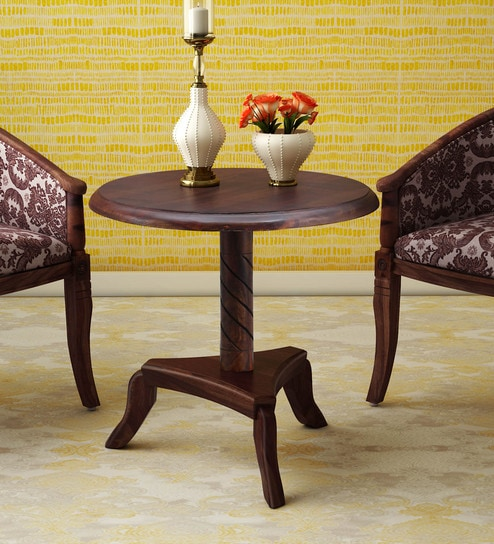 Stalley Solid Wood Table In Provincial Teak Finish By Amberville