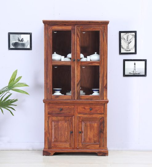 Buy Stanfield Hutch Cabinet in Honey Oak Finish by Amberville ...