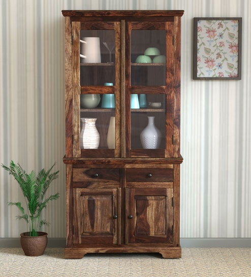 Nice Buy Stanfield Solid Wood Hutch Cabinet In Provincial Teak Finish By  Amberville Online   Hutch Cabinets   Cabinets   Furniture   Pepperfry  Product