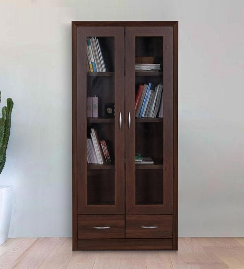 Stark Book Case Cum Filing Cabinet With Drawers In Walnut Finish By HomeTown