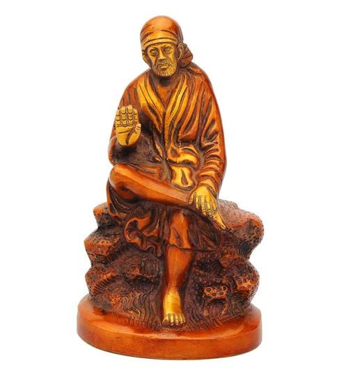 Statue Studio Sai Baba Red Brass Statue By Statue Studio Online