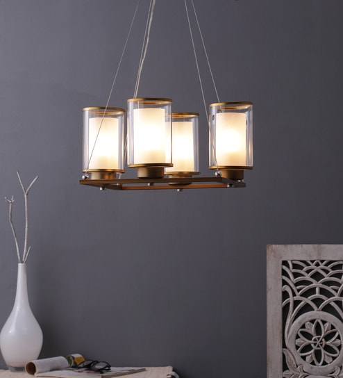 Steel Hanging Light Gold By Learc Designer Lighting
