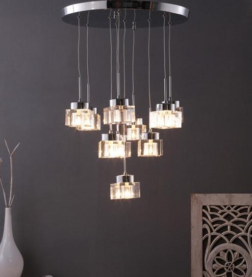 Steel Hanging Light Silver By Learc Designer Lighting