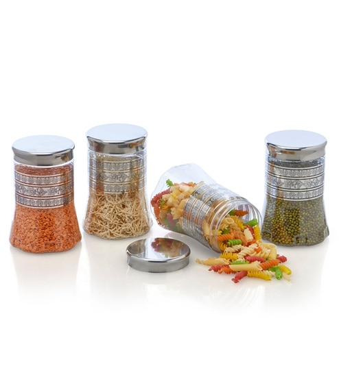 Steelo Transparent 900 Ml Storage Container - Set of 4
