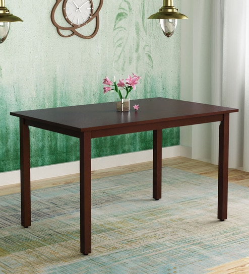 Stella Four Seater Dining Table In Dark Walnut Finish By Hometown