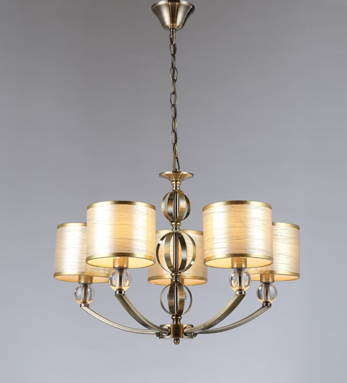 Buy antique brass metal and fabric chandelier by stello online antique brass metal and fabric chandelier by stello aloadofball Gallery
