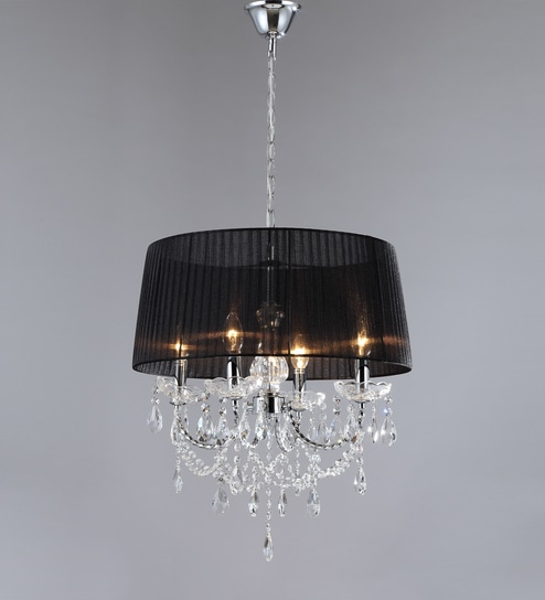 Buy black and silver metal fabric chandelier by stello online black and silver metal fabric chandelier by stello aloadofball Gallery