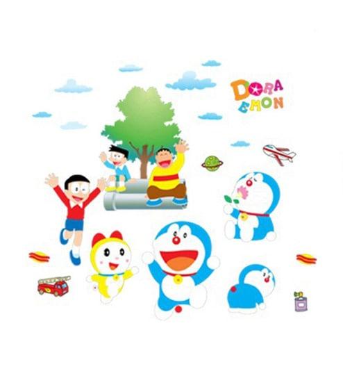 Buy StickerShopee Doraemon PVC Vinyl Wall Sticker Online - Wall Stickers - Wall Stickers - Pepperfry